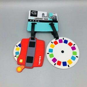 3D Viewer & Multicolored Disc Luggage Tags Set 2